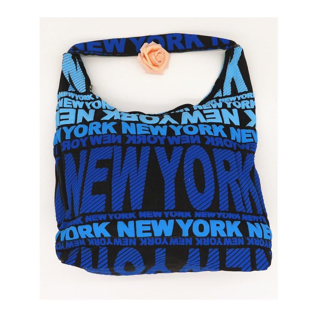 Dámská látková taška přes rameno New York modrá
