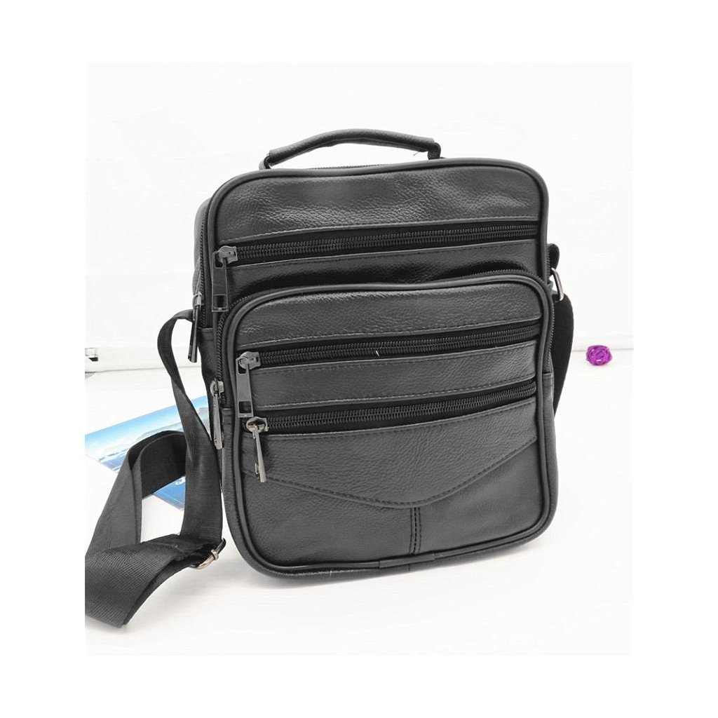 Pánská kožená taška přes rameno Salom 24 x 21 x 8 cm