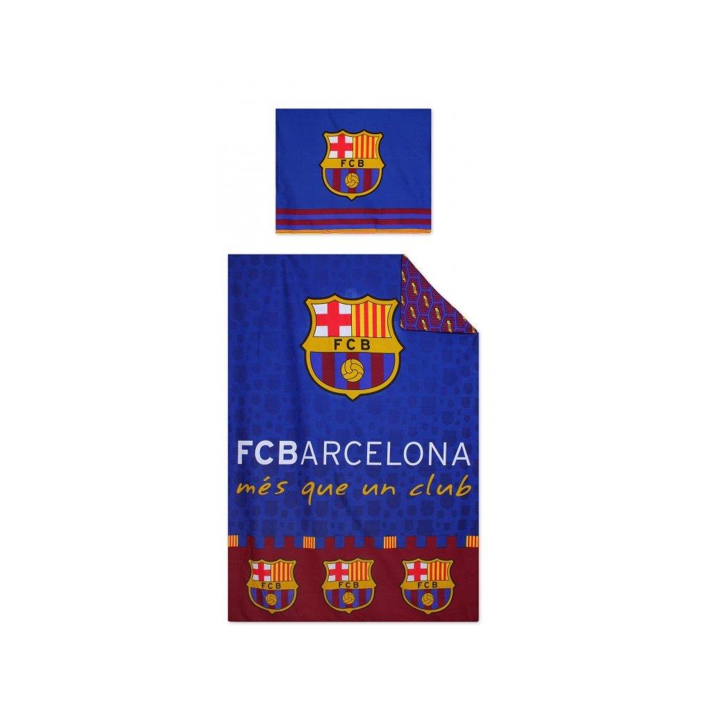 Dětské dvoudílné povlečení FC Barcelona 140 x 200 cm modrá