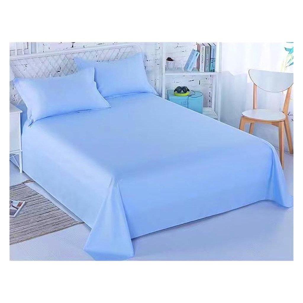 Bavlněné prostěradlo 140 x 225 cm modrá