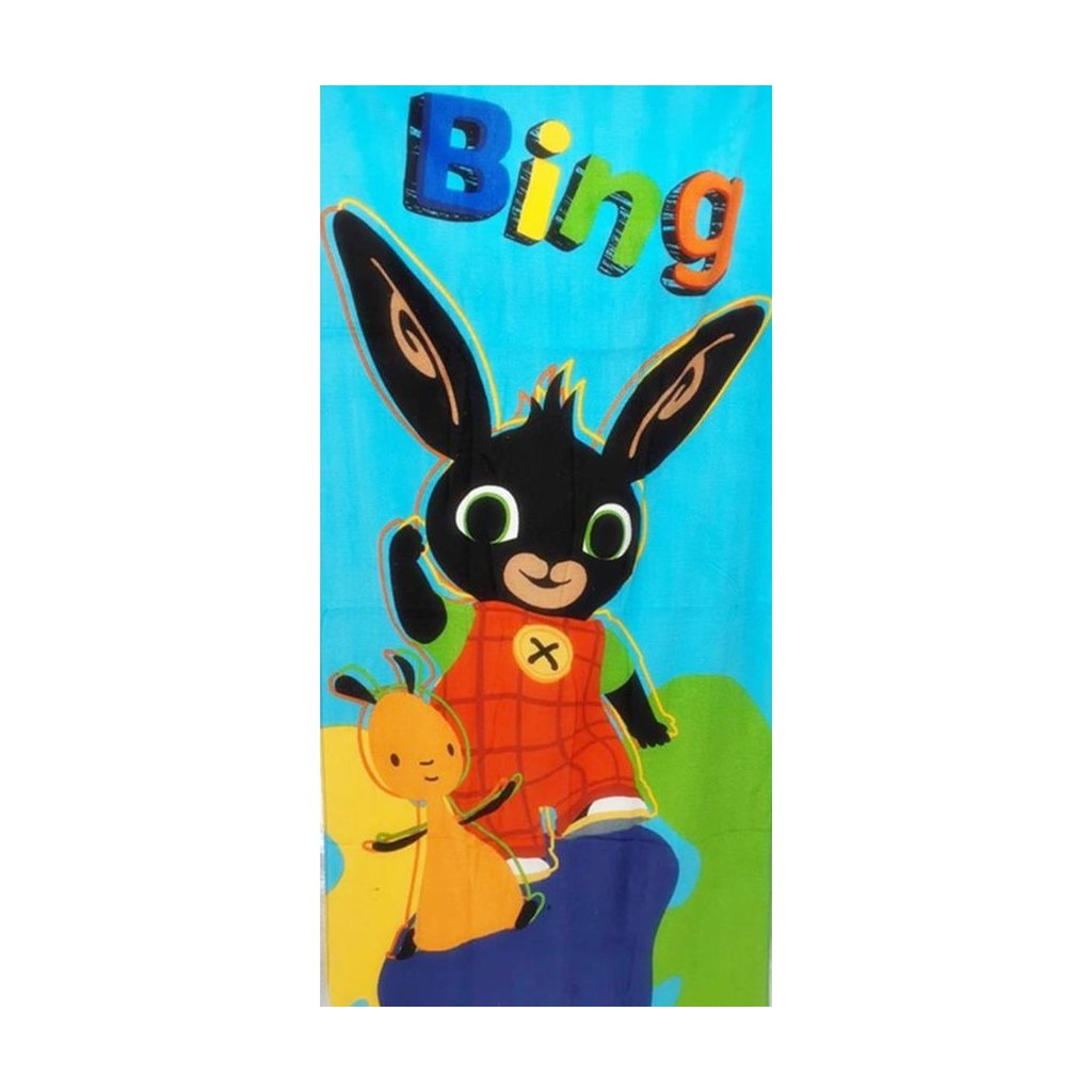 Plážová osuška Králíček Bing a Flop 70 x 140 cm