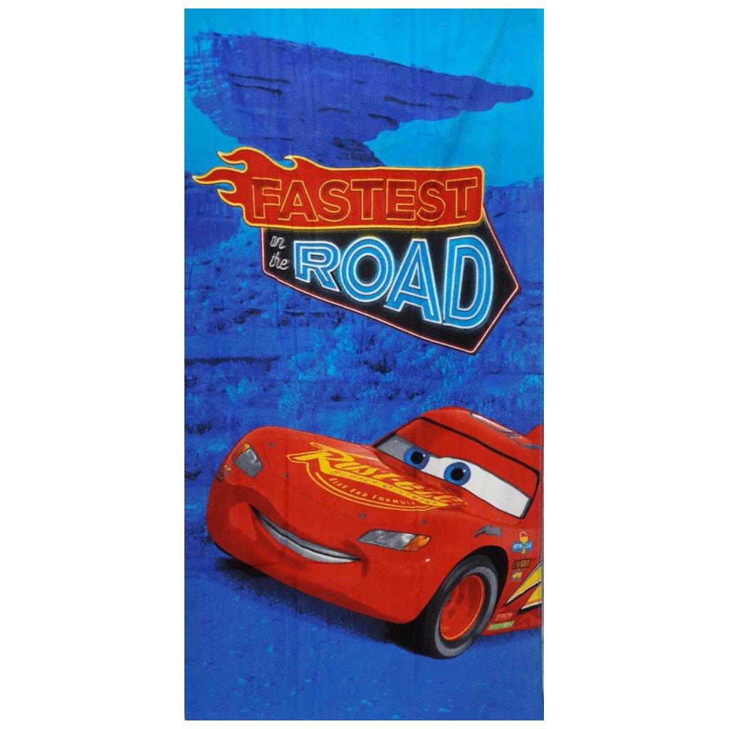 Plážová osuška Cars - Blesk McQueen 70 x 140 cm