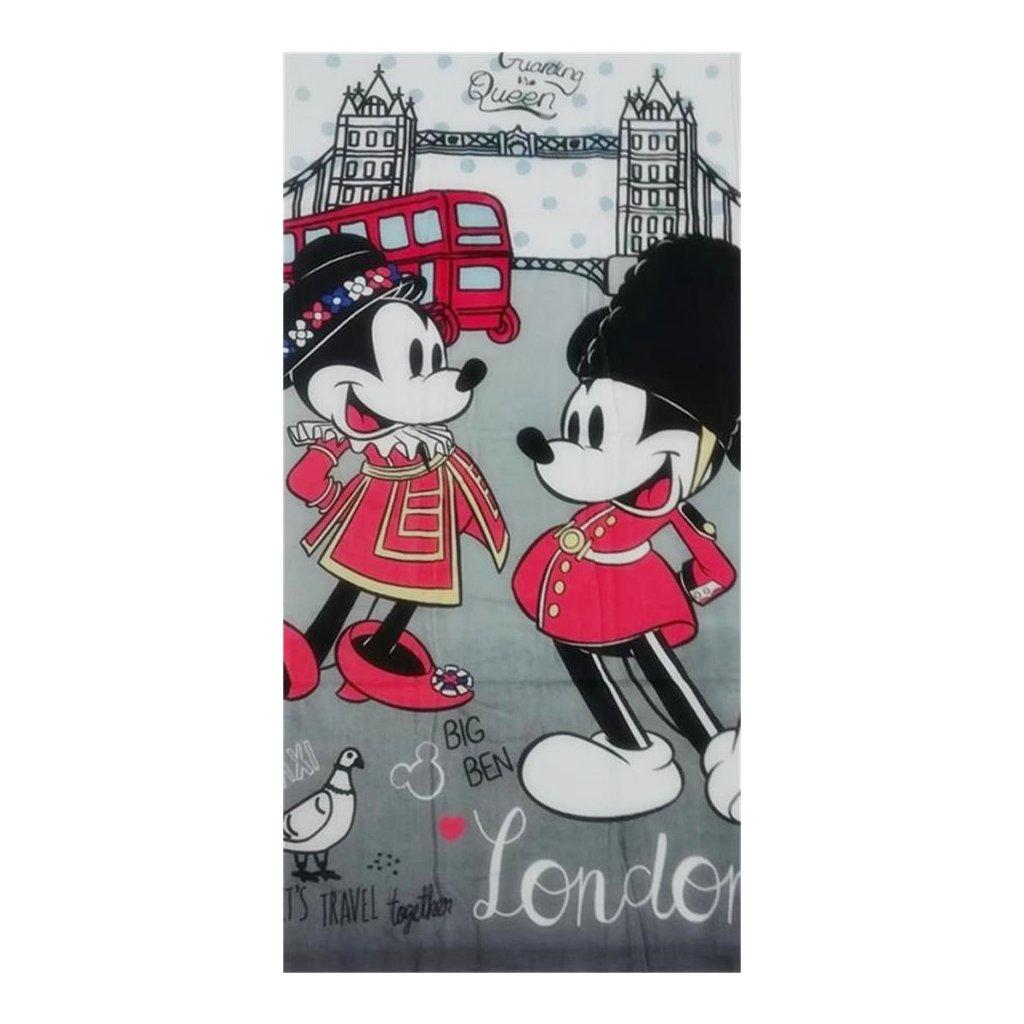 Plážová osuška Minnie a Mickey 70 x 140 cm