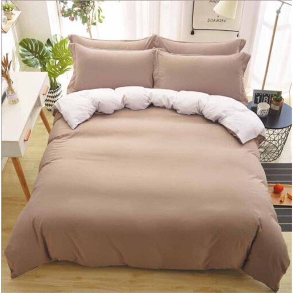3-dílné povlečení oboustranné cappuccino bílá 140x200 na jednu postel