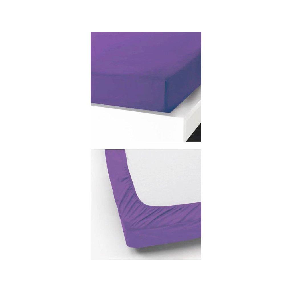 Prostěradlo 90 x 200 cm fialová
