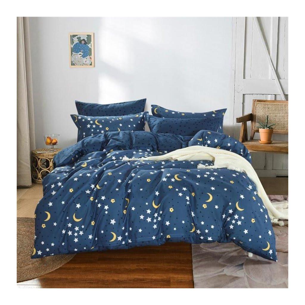 7-dílné povlečení noční obloha modrá 140x200 na dvě postele