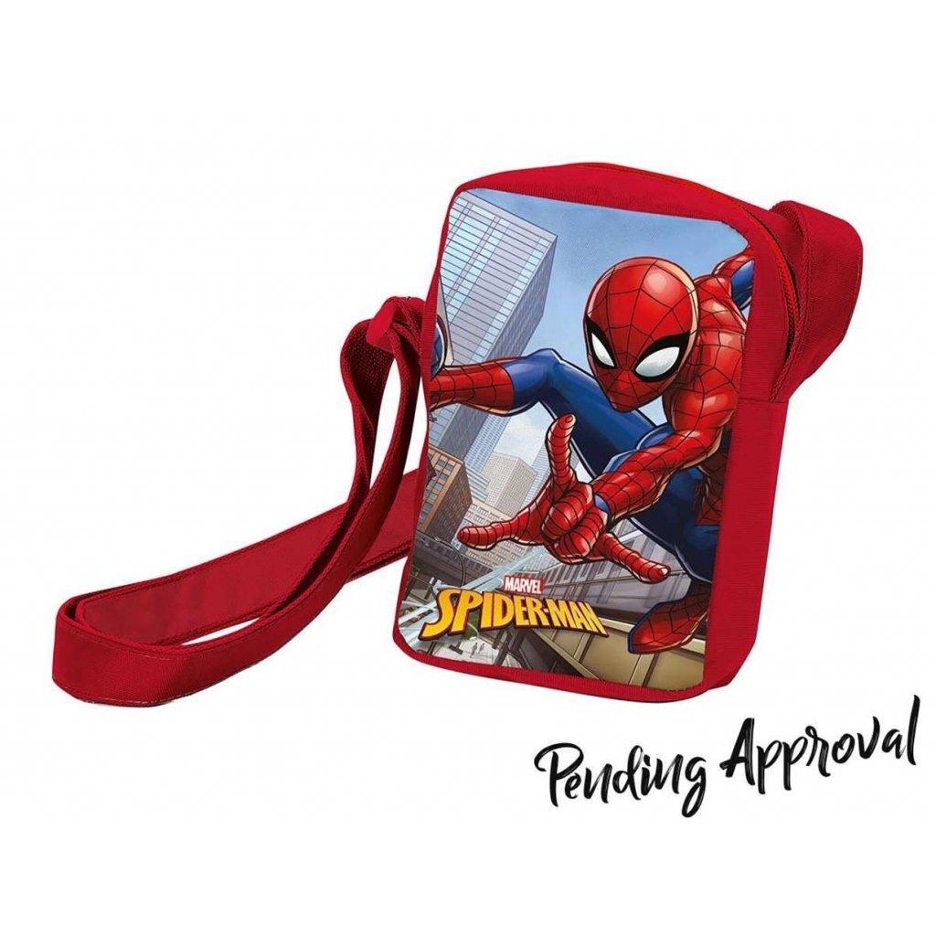 Taška přes rameno Spiderman červená