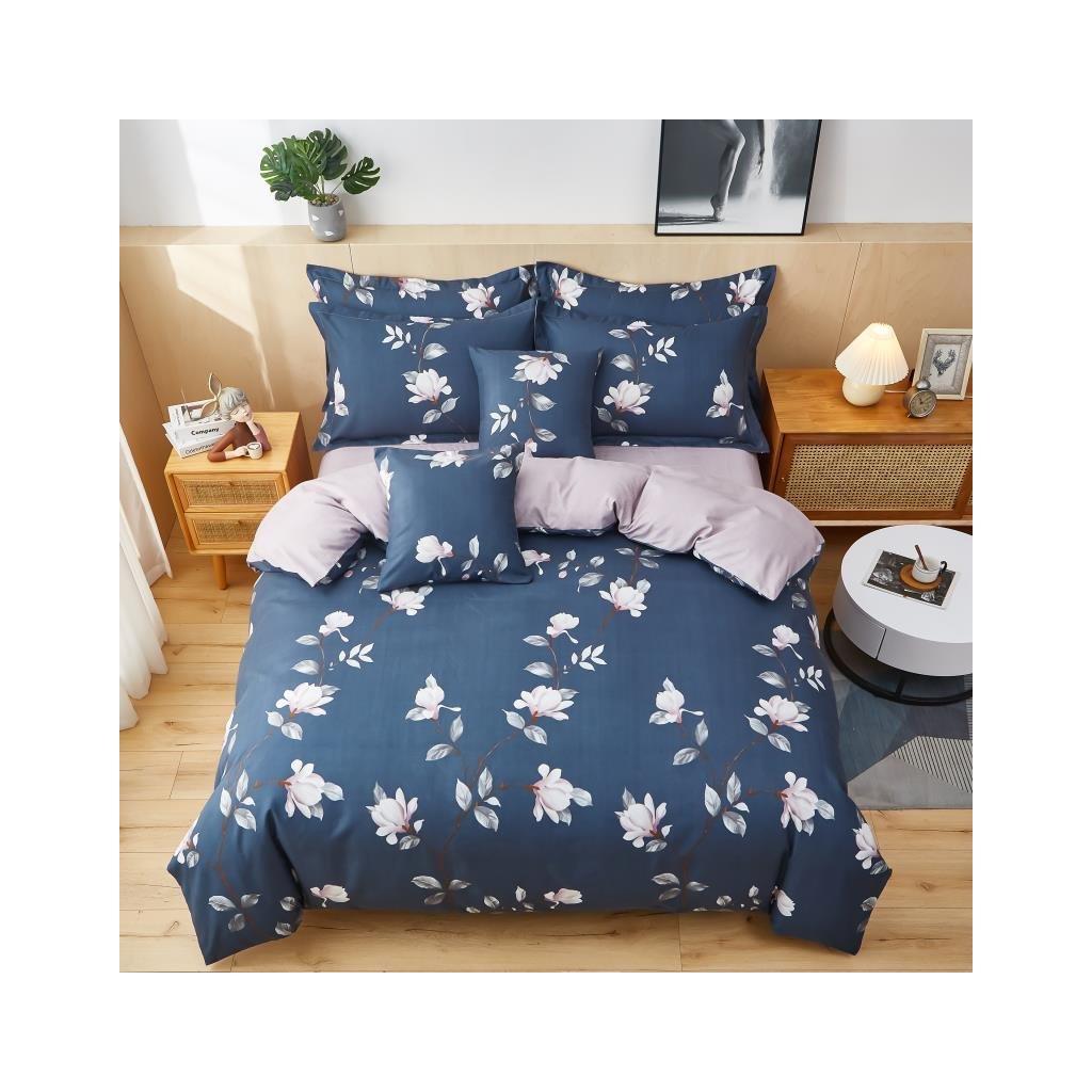 3-dílné flanelové povlečení květy love me tyrkysová 140x200 na jednu postel