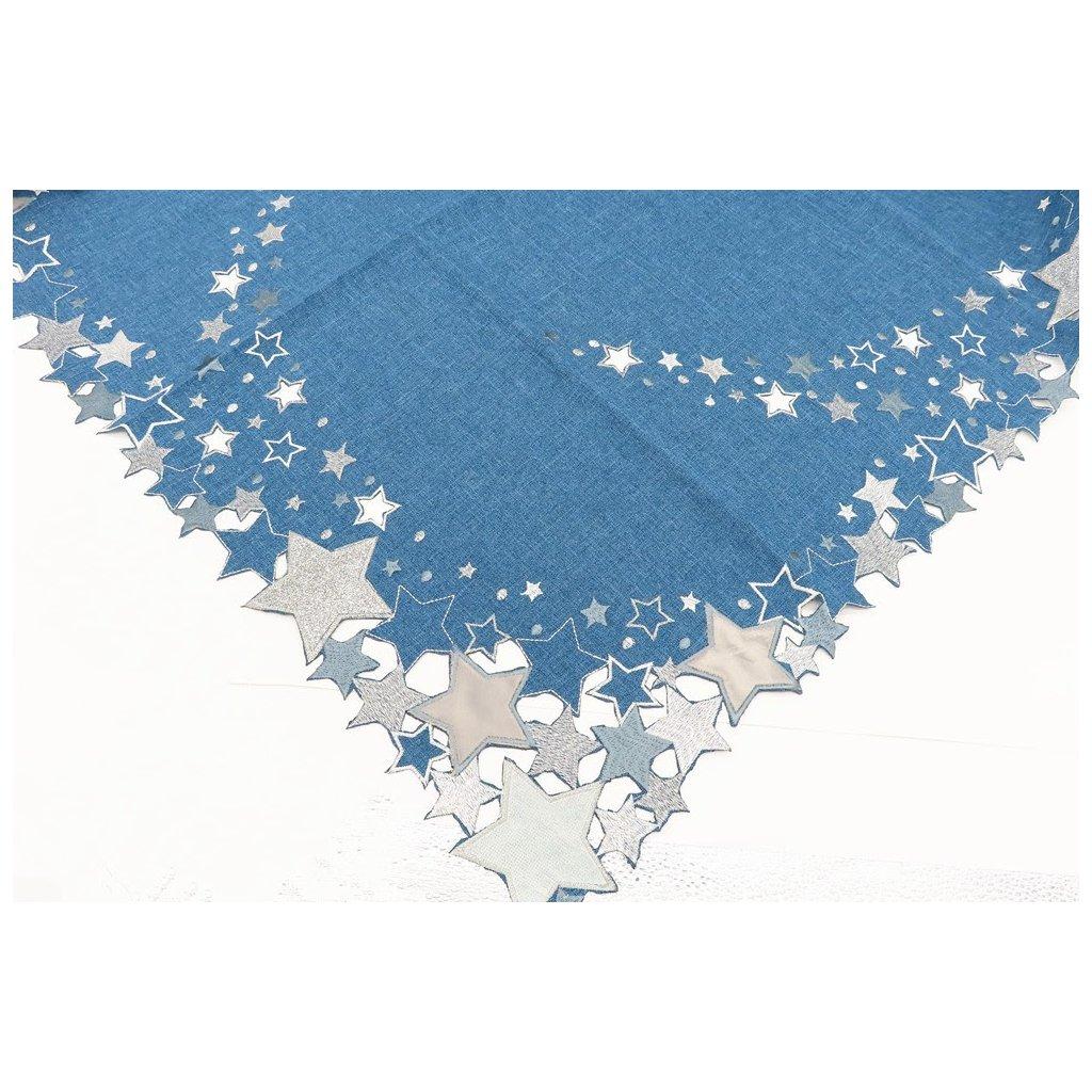 Vánoční ubrus 85 x 85 cm modrá