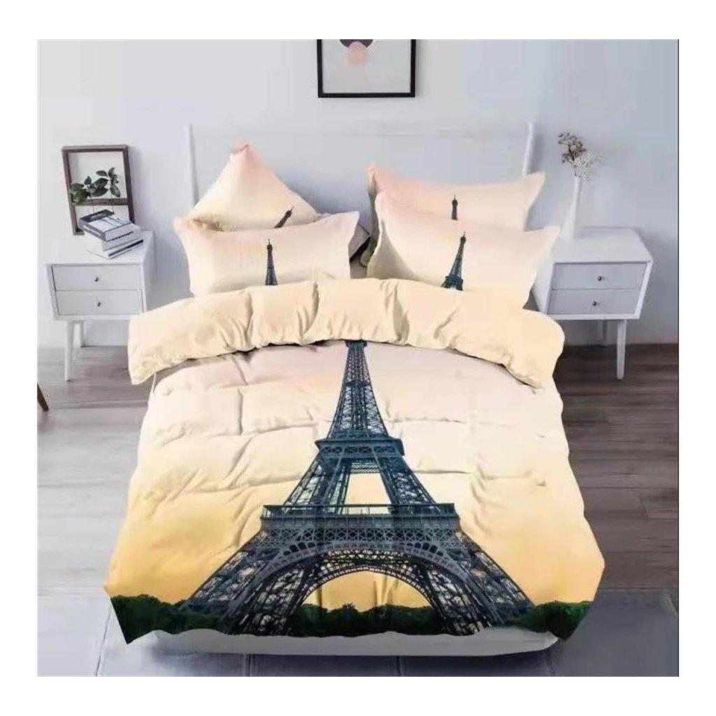 3-dílné povlečení Eiffelova věž 3 D 140x200 na jednu postel