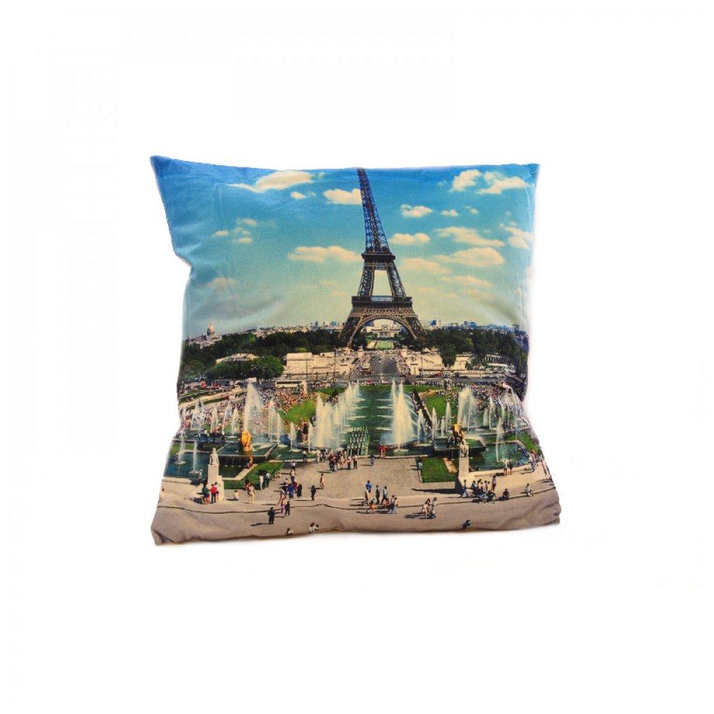 Polštář 3D 45 x 45 cm Paříž