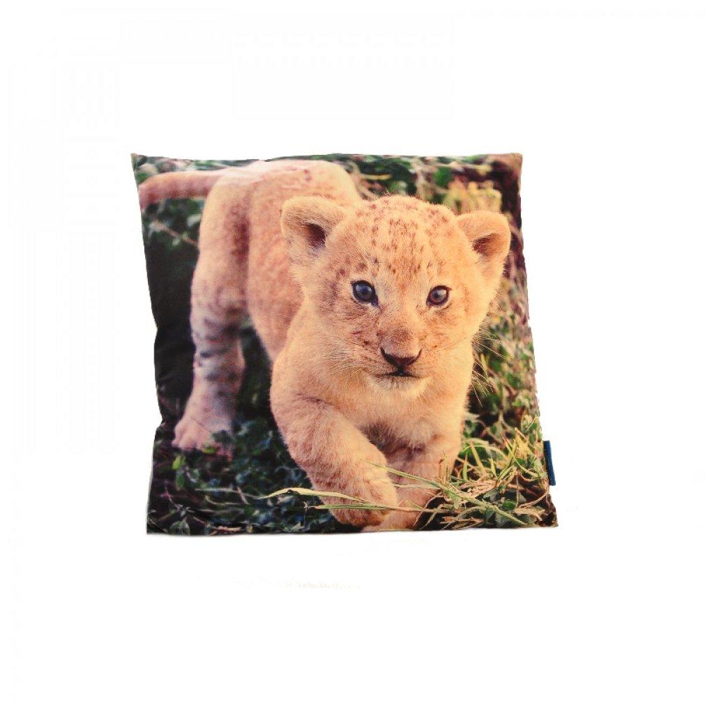 Polštář 3D lvíče 45 x 45 cm