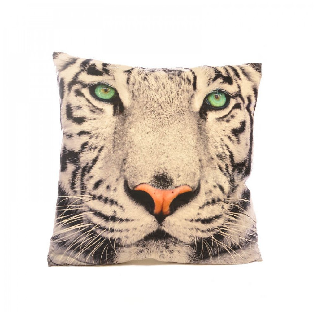 Polštář 3 D tygr bílý