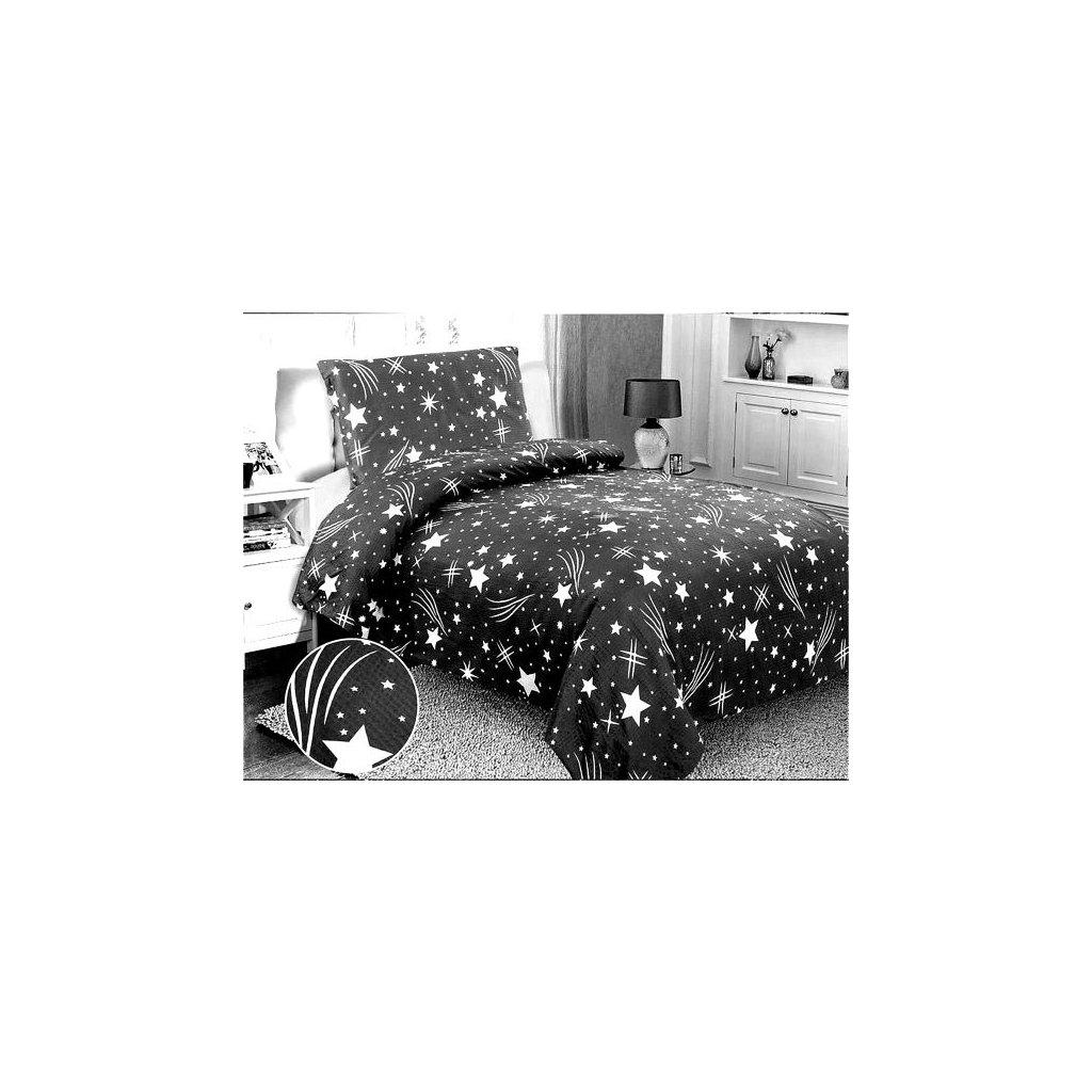 2-dílné krepové povlečení obloha šedá bílá 140x200 na jednu postel