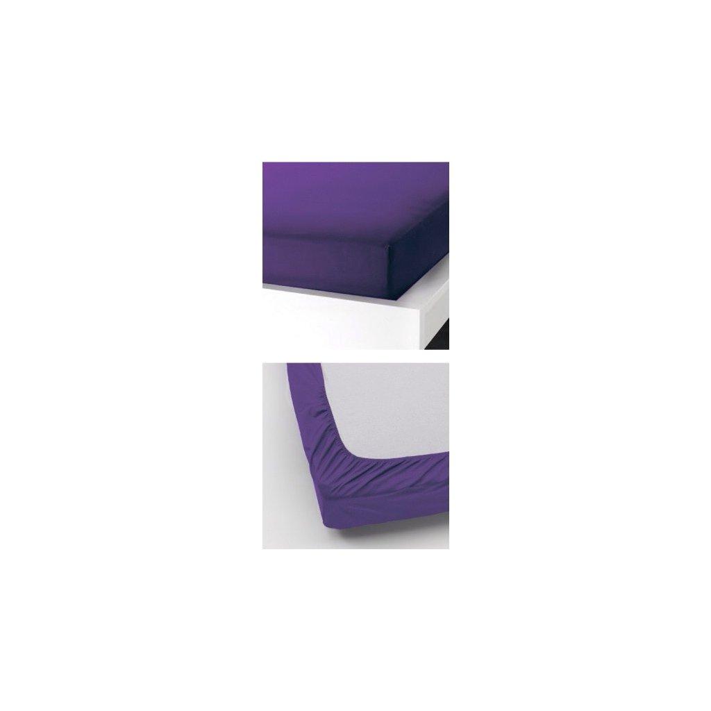 Prostěradlo 180 x 200 cm fialová