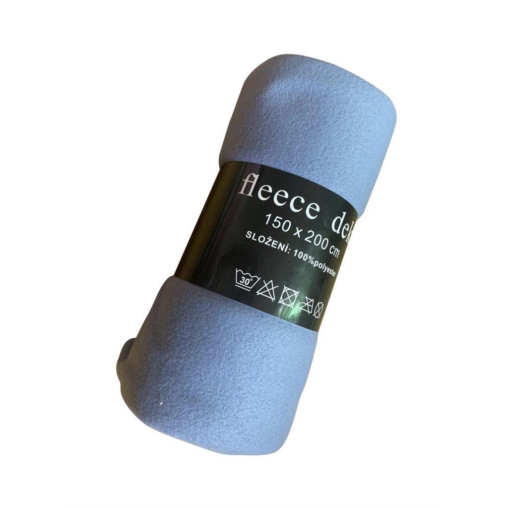 Fleecová deka 150 x 200 cm modrá světlá