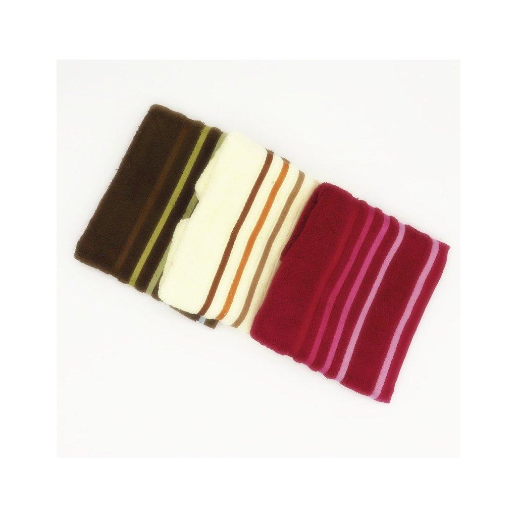 Froté ručník bavlna 50 x 90 cm balení 3 ks