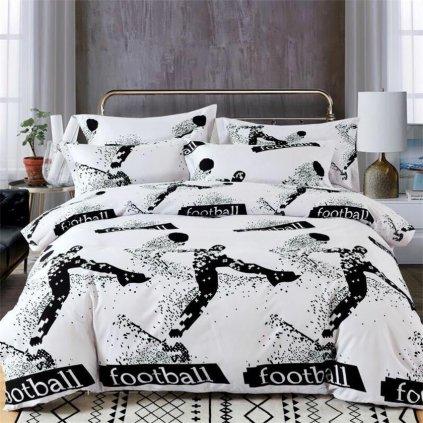 Sedmidílné povlečení fotbal bavlna/mikrovlákno 140x200 na dvě postele