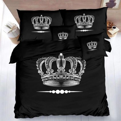 Sedmidílné povlečení královská koruna 3 D 140x200 na dvě postele