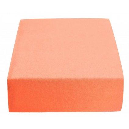 Prostěradlo 180 x 200 cm oranžová