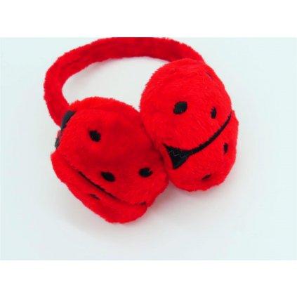 Dětské klapky na uši červená