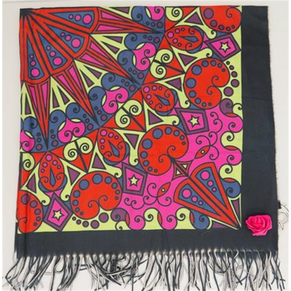 Šátek 120 x 120 cm ornament 2
