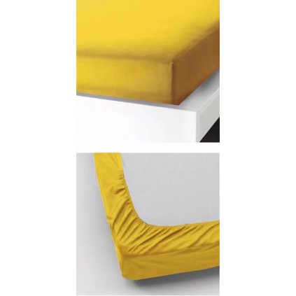 Prostěradlo 180 x 200 cm žlutá