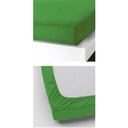Prostěradlo 180 x 200 cm zelená