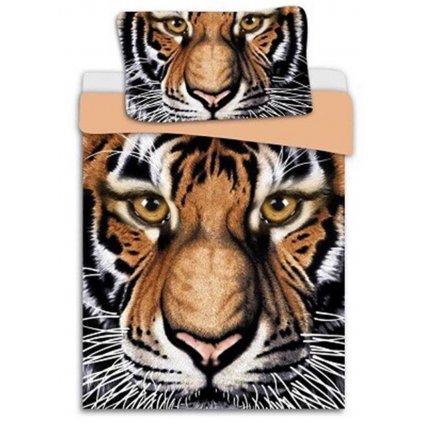 Dvoudílné povlečení 3 D tygr oranžová