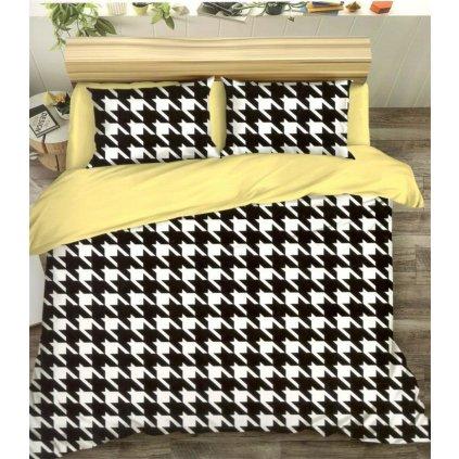 Sedmidílné povlečení abstrakce bavlna/mikrovlákno 140x200 na dvě postele
