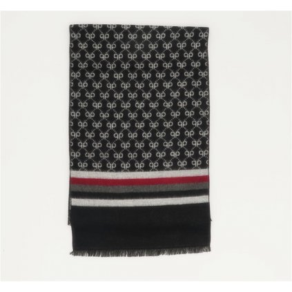 Pánská šála 190 x 30 cm kašmír hedvábí černá