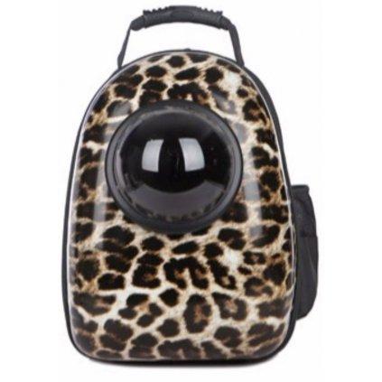 Batoh na domácí mazlíčky 42x29x24 cm leopard obr. 1