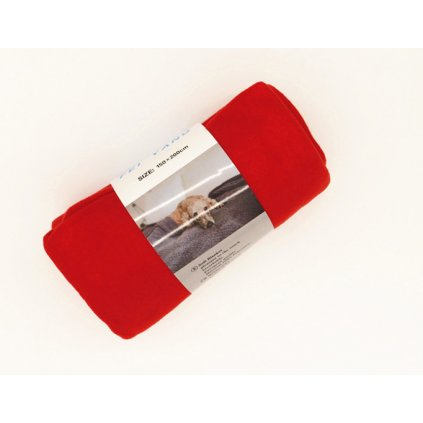 Fleecová deka 150 x 200 cm červená