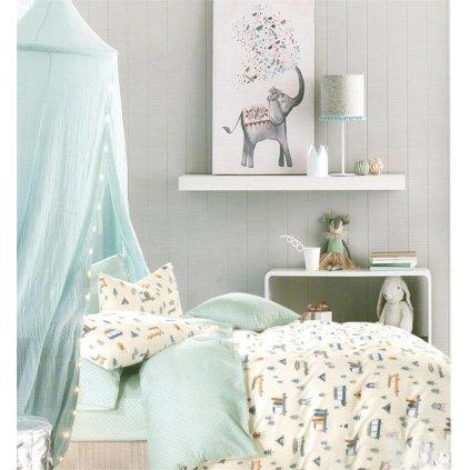 Dětské povlečení prázdniny zelená 100x140 na jednu postel