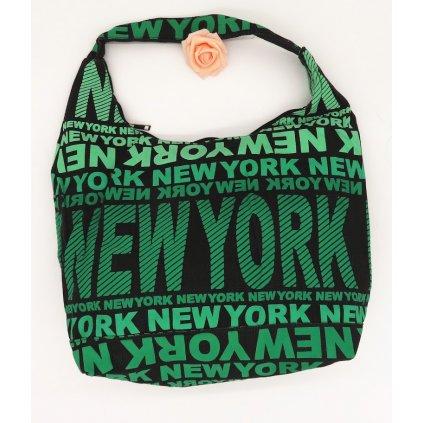 Dámská látková taška přes rameno New York zelená