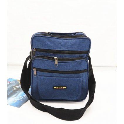 Pánská látková taška přes rameno modrá džínová