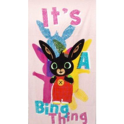 Plážová osuška králíček Bing 70 x 140 cm