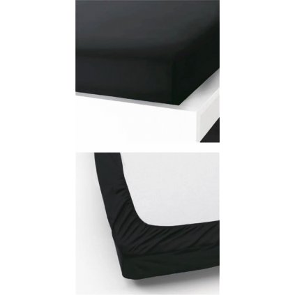 Prostěradlo 180 x 200 cm černá