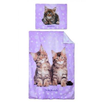 Dětské dvoudílné povlečení 140 x 200 cm koťata