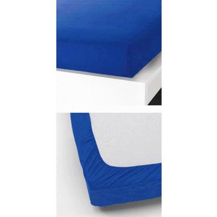 Prostěradlo 90 x 200 cm modrá