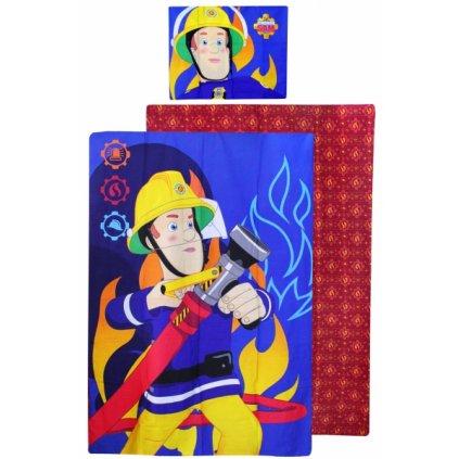 Dětské dvoudílné povlečení Požárník Sam 140 x 200 cm