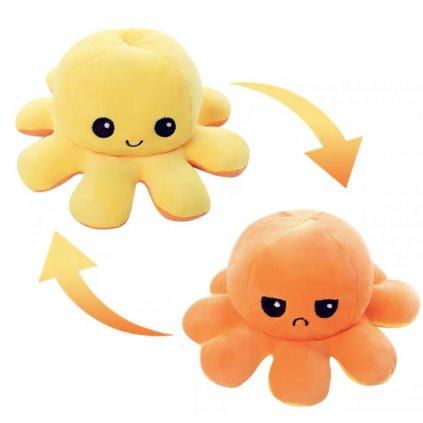 Oboustranná plyšová chobotnice klíčenka