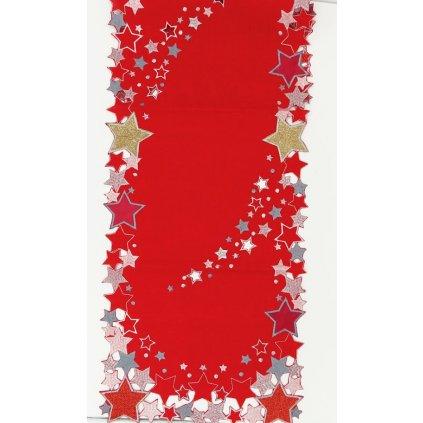 Vánoční běhoun na stůl 105 x 38 cm červená