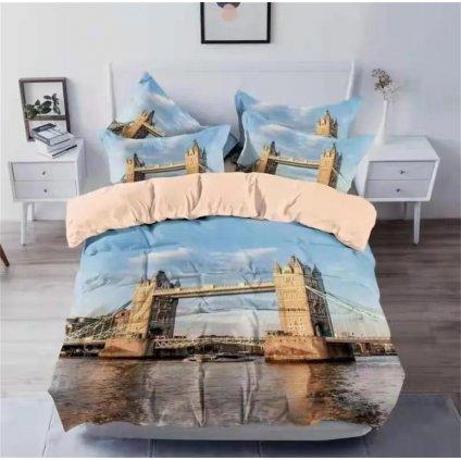 3-dílné povlečení Tower Bridge 3 D 140x200 na jednu postel