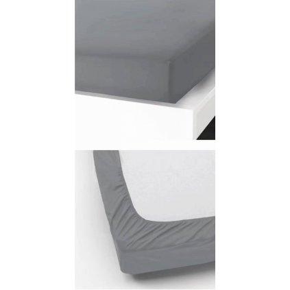 Prostěradlo 90 x 200 cm šedá