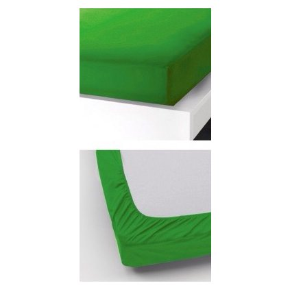 Prostěradlo 90 x 200 cm zelená