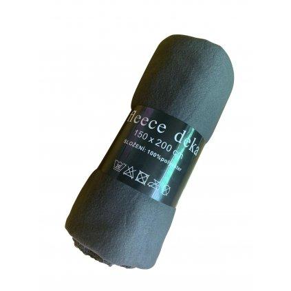 Fleecová deka 150 x 200 cm šedá