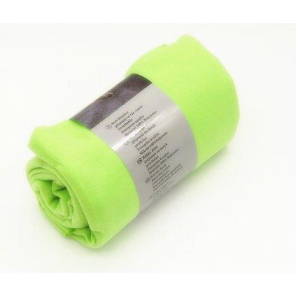 Fleecová deka 150 x 200 cm zelená