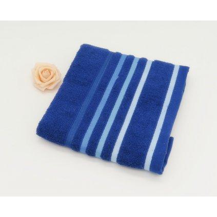 Froté ručník bavlna 50 x 90 cm modrá
