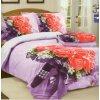 Čtyřdílné povlečení růže 3 D 140 x 200 na dvě postele